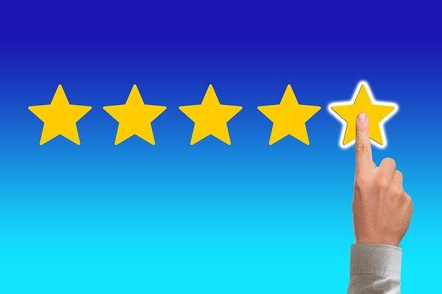 3 praktische tips voor succes met affiliate marketing, gebruik sterren bij je beoordeling